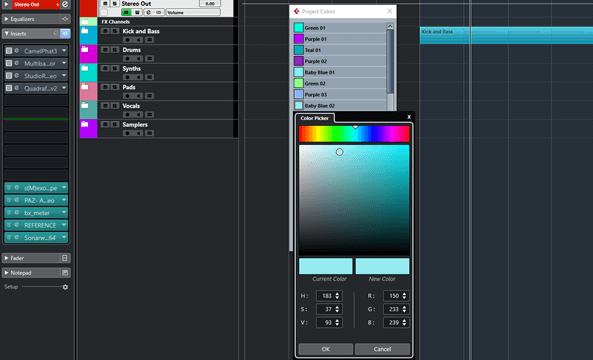 Better Project Colours in Cubase   Cyberg